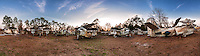 Panorama of the eight Grumman S2 Trackers in the Airplane Graveyard in St. Augustine, FL.