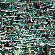 Bursaspor's Supporters fans during their Turkish soccer super league match Bursaspor between Besiktas at Ataturk Stadium in Bursa Turkey on Monday, 08 April 2013. Photo by TURKPIX