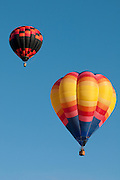 Hot air balloons at the Albuquerque Balloon Fiesta in New Mexico.