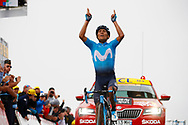 Arrival, Nairo Quintana (COL - Movistar) winner during the 105th Tour de France 2018, Stage 17, Bagneres de Luchon - Col du Portet (65 km) on July 25th, 2018 - Photo Luca Bettini / BettiniPhoto / ProSportsImages / DPPI