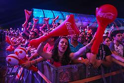 Natiruts se apresenta no Palco Planeta  durante a 22ª edição do Planeta Atlântida. O maior festival de música do Sul do Brasil ocorre nos dias 3 e 4 de fevereiro, na SABA, na praia de Atlântida, no Litoral Norte gaúcho.  Foto: Gustavo Roth / Agência Preview A cantora Anitta durante a 22ª edição do Planeta Atlântida. O maior festival de música do Sul do Brasil ocorre nos dias 3 e 4 de fevereiro, na SABA, na praia de Atlântida, no Litoral Norte gaúcho. Foto: Jefferson Bernardes / Agência Preview