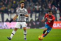 Sami Khedira Juventus, Lorenzo Insigne Napoli <br /> Torino 13-02-2016 Juventus Stadium, Football Calcio 2015/2016 Serie A. Juventus - Napoli . Foto Filippo Alfero / Insidefoto