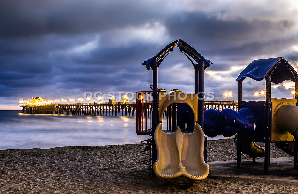 Playground Equipment On The Beach At The Oceanside Pier
