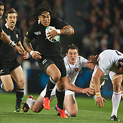 Ma'a Nonu, New Zealand, in action during the New Zealand V France, Pool A match during the IRB Rugby World Cup tournament. Eden Park, Auckland, New Zealand, 24th September 2011. Photo Tim Clayton...