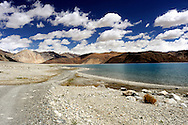 Ladakh, Pangong Tso - one of the giant himalayan lakes situated at the altitude over 4300 meters above sea level.