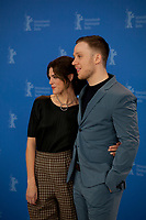 Actress Callie Hernandez and actor Joe Cole at the photocall for the film One of These Days at the 70th Berlinale International Film Festival, on Saturday 22nd February 2020, Hotel Grand Hyatt, Berlin, Germany. Photo credit: Doreen Kennedy
