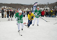 Pond Hockey Classic on Meredith Bay.  Karen Bobotas for the Laconia Daily Sun