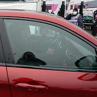 08.10.2020, Nürburgring, Nürburg, Formula 1 Aramco Grosser Preis der Eifel 2020<br /> , im Bild<br />Sebastian Vettel (GER#5), Scuderia Ferrari fährt im Auto in das Fahhrerlager<br /> <br /> Foto © nordphoto / Bratic