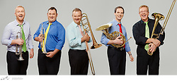 Best of Brass, photographed for Musica Viva In Schools, on Monday 23 March, 2015.   Best of Brass are Bob Schulz (trumpet, flugelhorn, piccolo trumpet), Nathan Schilling (trumpet, flugelhorn, piccolo trumpet), Armin Terzer (horn), Greg Aitken (trombone), and Warwick Tyrrell (trombone).