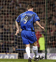 Copyright Sportsbeat. 0208 3926656<br />Picture: Henry Browne<br />Date: 03/03/2003<br />Aston Villa v Birmingham City Barclaycard Premiership<br />Geoff Horsfield knocks the ball into an empty net for Birmingham's second