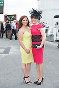 29/07/2014 Fiona Connell and Johanna Hynes  from Tuam  at the Tuesday evening meeting of the Galway Summer racing Festival. Photo: Andrew Downes