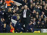 Burnley's Sean Dyche complains about Tottenham's Moussa Sissoko's tackle during the Premier League match at White Hart Lane Stadium, London. Picture date December 18th, 2016 Pic David Klein/Sportimage