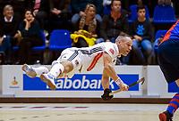 ROTTERDAM  - NK Zaalhockey . finale heren: SCHC-Amsterdam (2-2, SCHC wint shoot-outs) . een vliegende Teun Rohof (a'dam)  COPYRIGHT KOEN SUYK