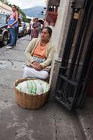 Street seller on in Antigua, Guatemala.