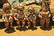 Africa, Ethiopia, Omo River Valley Hamer Tribe handicraft clay dolls