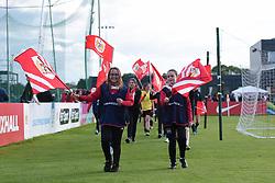 Mascots at Stoke Gifford Stadium - Mandatory by-line: Paul Knight/JMP - 20/05/2017 - FOOTBALL - Stoke Gifford Stadium - Bristol, England - Bristol City Women v Liverpool Ladies - FA Women's Super League Spring Series