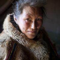 Sept 2009 Yamal Peninsula, Siberia, Russia - global warming impacts story on the Nenet people , reindeer herders in the Yamal Peninsula - Mrs Yabtchik