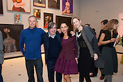 PETER FLEISSIG; ; GEORGE CONDO; ANNA CONDO; BRADY DOTY, George Condo: Mental States. Hayward Gallery. Southbank Rd. London. 17 October 2011. <br /> <br />  , -DO NOT ARCHIVE-© Copyright Photograph by Dafydd Jones. 248 Clapham Rd. London SW9 0PZ. Tel 0207 820 0771. www.dafjones.com.