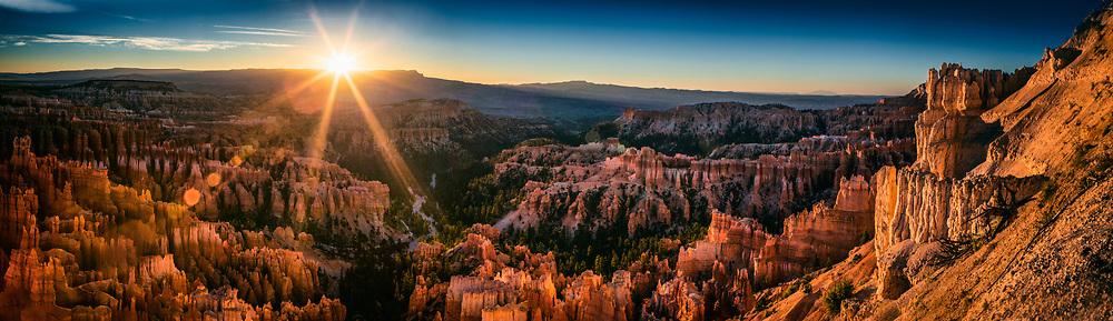 Sunrise Panorama Scenic Landscape at Bryce Canyon National Park in Utah. ©justinalexanderbartels.com