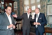 ANTOINE PIN; DYLAN JONES; HAROLD TILLMAN, Dylan Jones hosts a party for Brett Easton Ellis and his new book.- Imperial Bedrooms. Mark's Club. London. 15 July 2010.  -DO NOT ARCHIVE-© Copyright Photograph by Dafydd Jones. 248 Clapham Rd. London SW9 0PZ. Tel 0207 820 0771. www.dafjones.com.