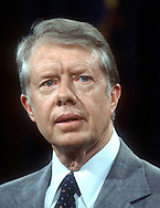 A 27MG IMAGE OF:..Jimmy Carter at a press conference in March 1979..Photo by Dennis Brack