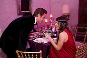 RICCARDO LANZO; MARGHERITA MISSONI, Francesca Bortolotto Possati, Alessandro and Olimpia host Carnevale 2009. Venetian Red Passion. Palazzo Mocenigo. Venice. February 14 2009.  *** Local Caption *** -DO NOT ARCHIVE -Copyright Photograph by Dafydd Jones. 248 Clapham Rd. London SW9 0PZ. Tel 0207 820 0771. www.dafjones.com<br /> RICCARDO LANZO; MARGHERITA MISSONI, Francesca Bortolotto Possati, Alessandro and Olimpia host Carnevale 2009. Venetian Red Passion. Palazzo Mocenigo. Venice. February 14 2009.