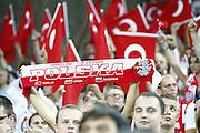 DESCRIZIONE : Wroclaw Poland Polonia Eurobasket Men 2009 Preliminary Round Turchia Lituania Turkey Lithuania <br /> GIOCATORE : Tifosi Supporters Fans Turchia Turkey<br /> SQUADRA : Turchia Turkey<br /> EVENTO : Eurobasket Men 2009<br /> GARA : Turchia Lituania Turkey Lithuania<br /> DATA : 07/09/2009 <br /> CATEGORIA : tifosi supporters fans<br /> SPORT : Pallacanestro <br /> AUTORE : Agenzia Ciamillo-Castoria/E.Castoria<br /> Galleria : Eurobasket Men 2009 <br /> Fotonotizia : Wroclaw Poland Polonia Eurobasket Men 2009 Preliminary Round Turchia Lituania Turkey Lithuania<br /> Predefinita :