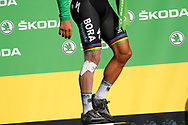 Podium, Peter Sagan (SVK - Bora - Hansgrohe) Green jersey, injury, during the 105th Tour de France 2018, Stage 17, Bagneres de Luchon - Col du Portet (65 km) on July 25th, 2018 - Photo Luca Bettini / BettiniPhoto / ProSportsImages / DPPI