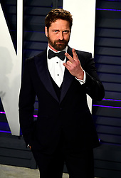 Gerard Butler attending the Vanity Fair Oscar Party held at the Wallis Annenberg Center for the Performing Arts in Beverly Hills, Los Angeles, California, USA.