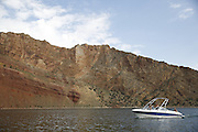SHOT 6/8/16 9:07:06 AM - Flaming Gorge Reservoir straddles the Utah-Wyoming border and was completed in 1964. The reservoir is mainly in southwest Wyoming and partially in northeastern Utah. The northern tip of the reservoir is 10 miles southeast of Green River, Wyoming, 14 miles southwest of Rock Springs, Wyoming, and 43 miles north of Vernal, Utah. Visitors enjoy world class fishing, hiking, boating, windsurfing, camping, backpacking, cross-country skiing, and snowmobiling within Flaming Gorge National Recreation Area, which is operated by Ashley National Forest. (Photo by Marc Piscotty / © 2016)
