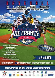 French Challenge tournament Street advertising poster, 2016.