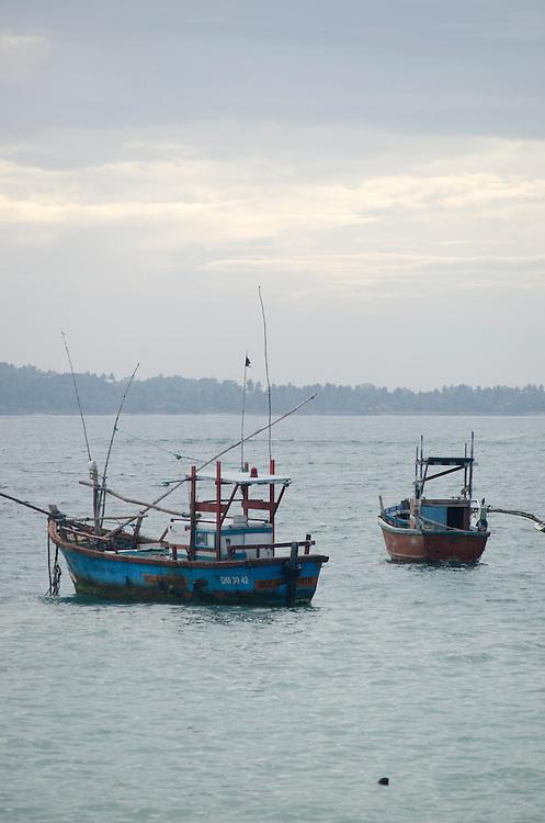 Fishing boats, Weligama, near Galle, Sri Lanka