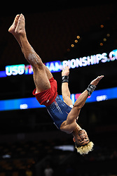 August 18, 2018 - Boston, Massachussetts, U.S - DONOTHAN BAILEY competes on the floor exercise during the final round of competition held at TD Garden in Boston, Massachusetts. (Credit Image: © Amy Sanderson via ZUMA Wire)