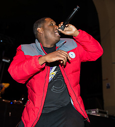 """© Licensed to London News Pictures. 01/05/2015. London, UK.   Jay Electronica performing live at Brixton Academy, supporting headliner Flying Lotus.Jay Electronica is Timothy Elpadaro Thedford , an American hip hop recording artist and record producer whose album """"Act I: Eternal Sunshine (The Pledge)"""" was described as 'a timeless classic' by Vice Magazine. Photo credit : Richard Isaac/LNP"""