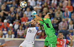 September 1, 2017 - Harrison, NJ, USA - Harrison, N.J. - Friday September 01, 2017: Geoff Cameron, Keylor Navas during a 2017 FIFA World Cup Qualifying (WCQ) round match between the men's national teams of the United States (USA) and Costa Rica (CRC) at Red Bull Arena. (Credit Image: © John Todd/ISIPhotos via ZUMA Wire)