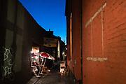 Terrace at Patershol, touristic alley ghent, belgium, 16.07.2017