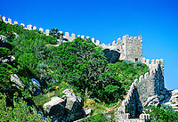 Castelo dos Mouros (ruins of 1,000 year old Moorish castle),  Sintra, Portugal