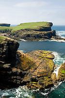 Coast of Mainland Orkney Islands Scotland near Yesnaby