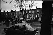 Jennifer Guinness Kidnap.  R31..10.04.1986..04.10.1986..10th April 1986..After a two day news blackout, Gardai relaesed the news that Jennifer Guinness,wife of merchant banker John Guinness, had been kidnapped.She was kidnappped from the family home in Bailey, Howth Co Dublin. During the kidnap John Guinness was pistol whipped by the assailants and it was he who raised the alarm. A ransom of £2million was demanded for her safe return...A view of the House on Waterloo Road,Dublin where Jennifer Guinness was held by the kidnappers.The kidnap saga ended with the safe release of Mrs Guinness and the arrest of the kidnappers. Mrs Guinness said that the kidnappers moved her to a new location every two days.