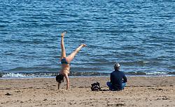 Portobello Beach and promenade today.
