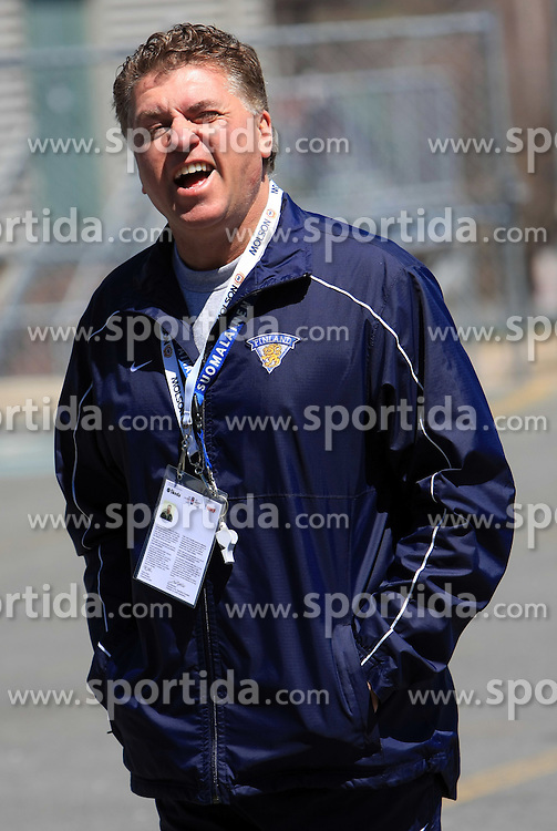 Head coach Doug Shedden after practice of Finland national team at Hockey IIHF WC 2008 in Halifax,  on May 04, 2008 in Forum Centre, Halifax, Nova Scotia, Canada.  (Photo by Vid Ponikvar / Sportal Images)