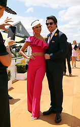 Tipple at Ascot Racecourse during Melbourne Cup in Perth, Western Australia. 06 Nov 2018 Pictured: Monica Radulovic and husband Alesandro Ljubicic. Photo credit: FM/MEGA TheMegaAgency.com +1 888 505 6342