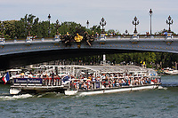 tourist boats in Paris France in Spring time of May 2008