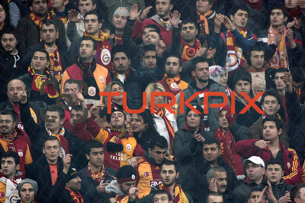 Galatasaray's supporters during their Turkish Super League soccer match Galatasaray between IBBSpor at the TT Arena at Seyrantepe in Istanbul Turkey on Tuesday, 03 January 2012. Photo by TURKPIX