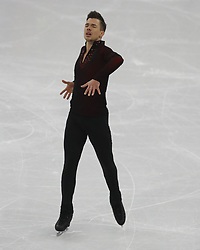 February 17, 2018 - Pyeongchang, KOREA - Jorik Hendrickx of Belgium competing in the men's figure skating free skate program during the Pyeongchang 2018 Olympic Winter Games at Gangneung Ice Arena. (Credit Image: © David McIntyre via ZUMA Wire)