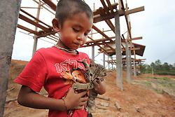 Tasala new resettlement village starts to take form, Khammouane, Lao PDR