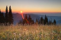 Sunset on Skyline Divide, Mount Baker Wilderness, North Cascades Washington