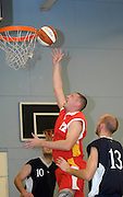 UK - Tuesday, Nov 18 2008:  Erks' Jonny Lee (#12) was strong in the paint all night during Barking and Dagenham Erkenwald Basketball Club's Essex Basketball League game against Brightlingsea Sledgehammers. Erks won the game 91 - 86. (Photo by Peter Horrell / http://www.peterhorrell.com)