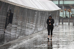 © Licensed to London News Pictures. 16/08/2018. London, UK. Heavy rain hits Greenwich in London this morning. Photo credit : Tom Nicholson/LNP