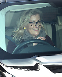 The Countess of Wessex leaving the Queen's Christmas lunch at Buckingham Palace, London.